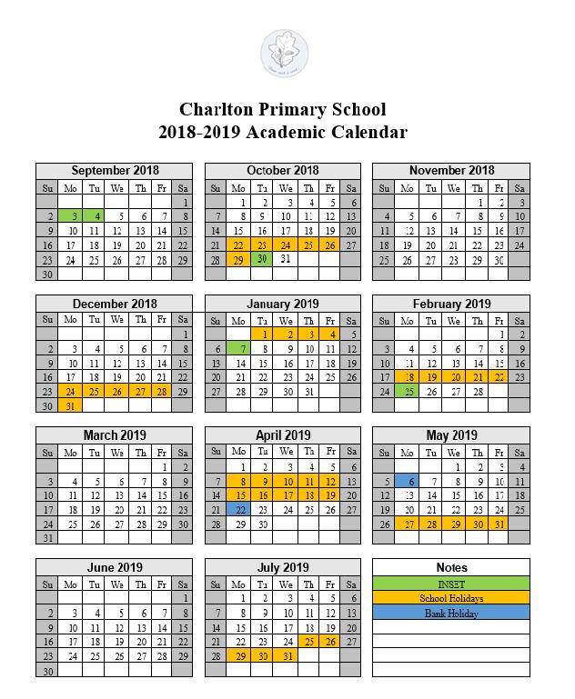 Dates 2018-2019