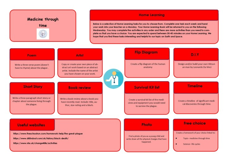 Year 5 Home Learning Term 4