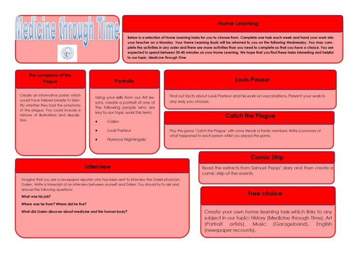 Year 6 Home Learning Term 4