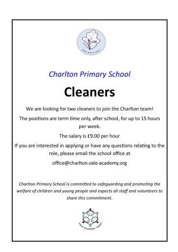 Cleaner advert 2019
