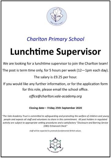 Lunchtime supervisor advert V3 (1)